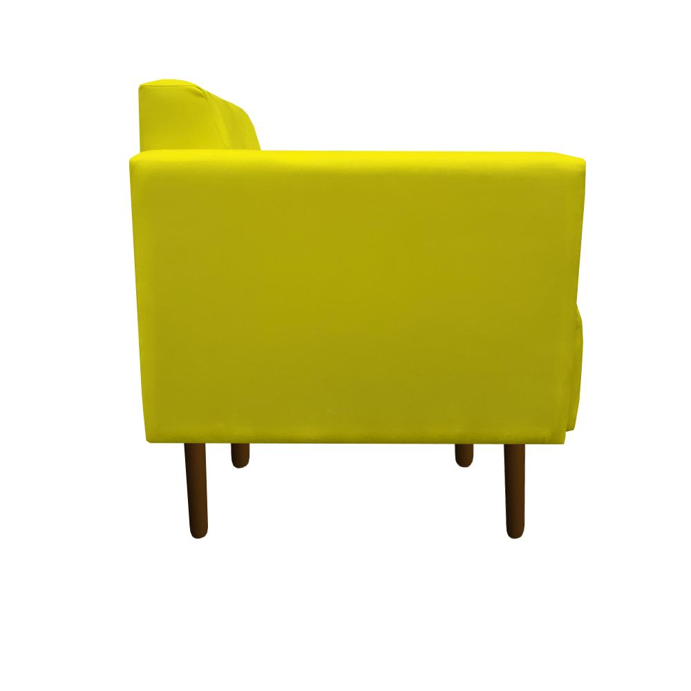 Kit 3 Poltrona Isa Decoração Clinica Recepção Escritório Quarto Cadeira D'Classe Decor Suede Amarelo