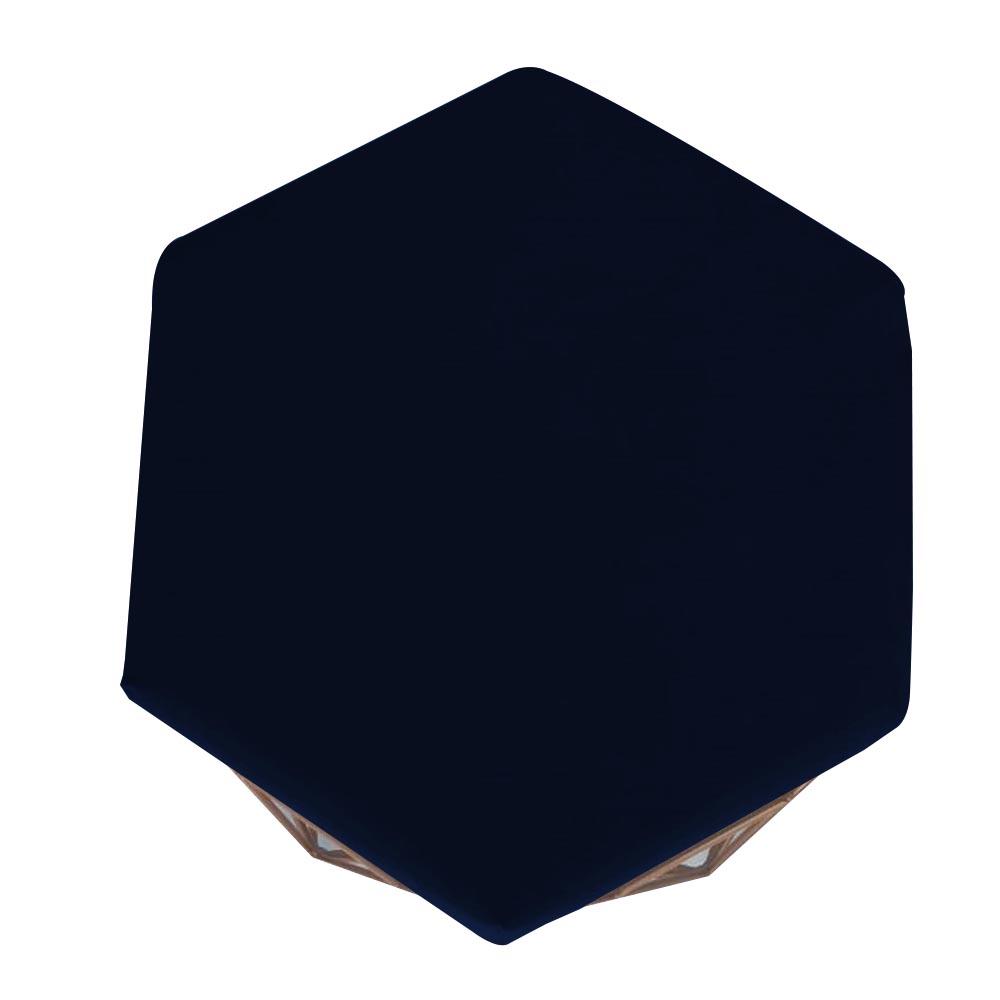 Kit 3 Puff Diamante Aramado Decoração Banqueta Salão Sala Estar Quarto D'Classe Decor Suede Azul Marinho