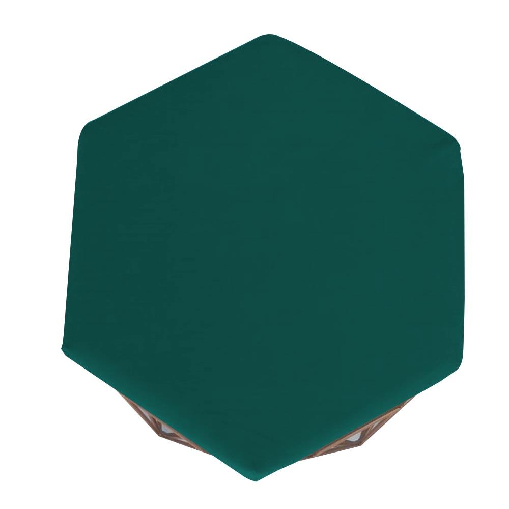 Kit 3 Puff Diamante Aramado Decoração Banqueta Salão Sala Estar Quarto D'Classe Decor Suede Azul Tiffany