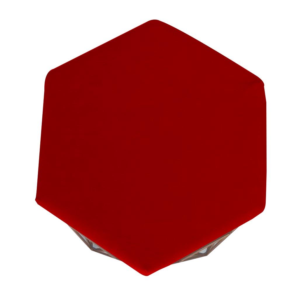 Kit 3 Puff Diamante Aramado Decoração Banqueta Salão Sala Estar Quarto D'Classe Decor Suede Vermelho