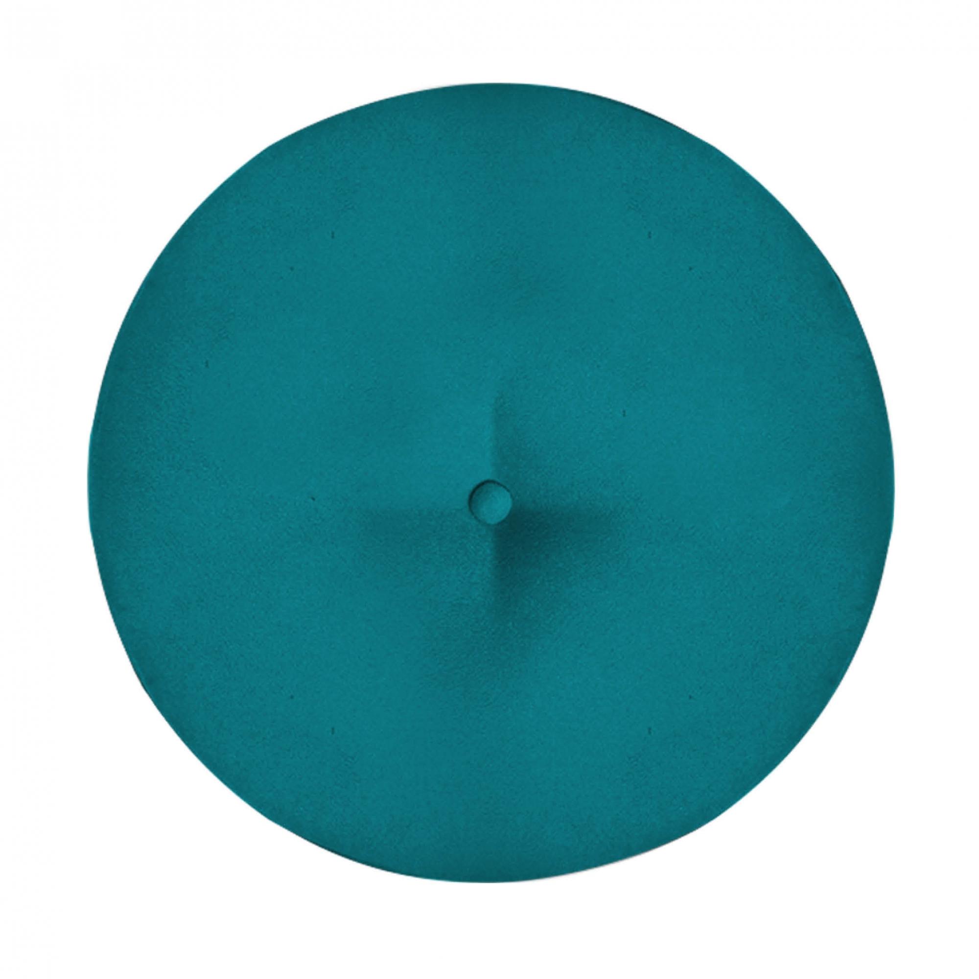 Kit 3 Puff Duda Decoração Redondo Recepção Escritório Sala Estar Salão Quarto D'Classe Decor Suede Azul Tiffany