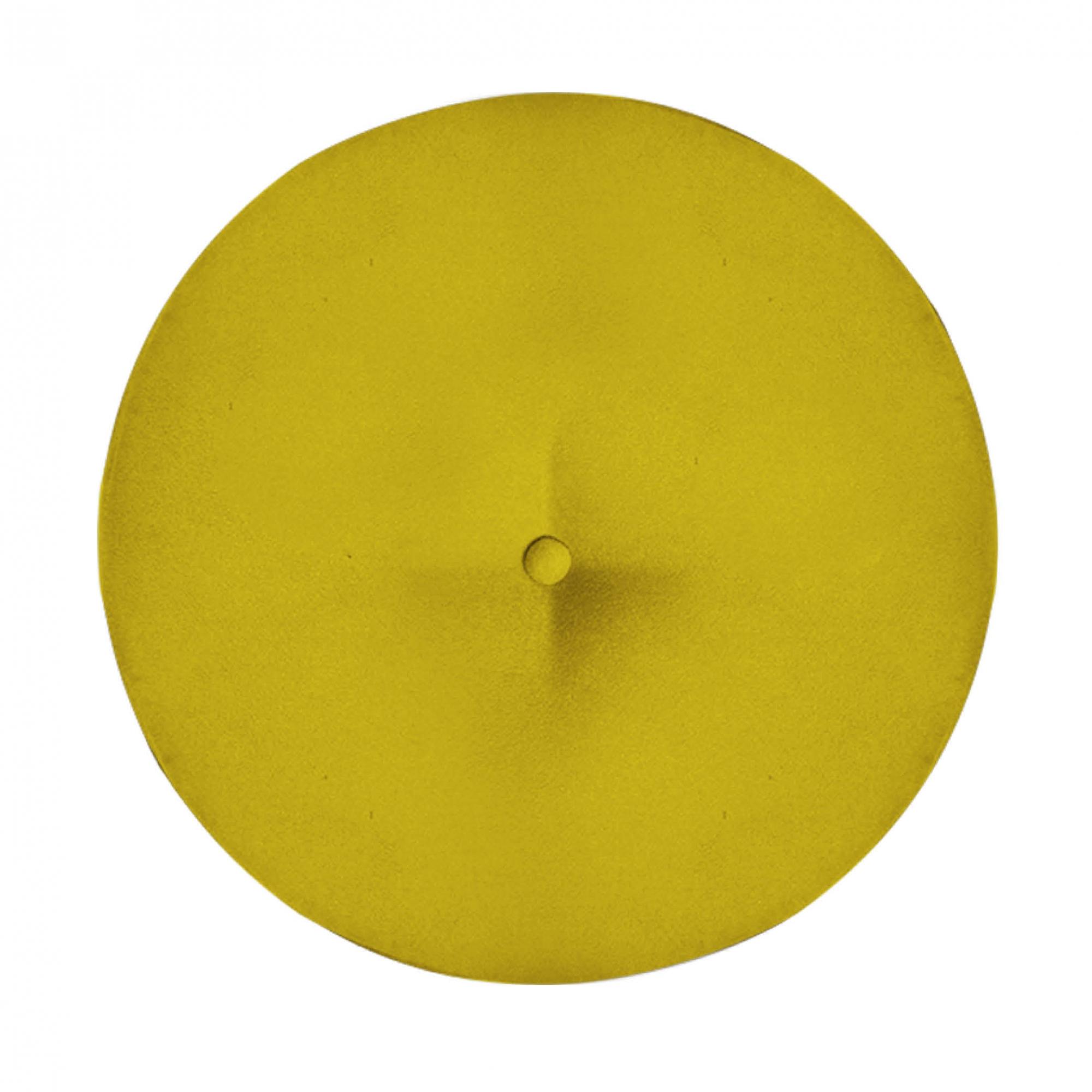 Kit 3 Puff Duda Decoração Redondo Recepção Escritório Sala Estar Salão Quarto D'Classe Decor Suede Amarelo