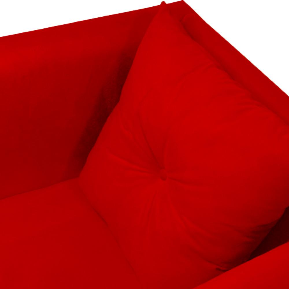Kit 4 Poltrona Bia Decoração Pé Palito Sala Estar Jantar Escritório Clinica Quarto D'Classe Decor Suede Vermelho