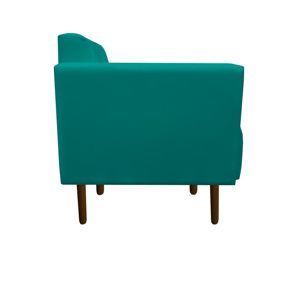 Kit 4 Poltrona Isa Decoração Clinica Recepção Escritório Quarto Cadeira D'Classe Decor Suede Azul Tiffany