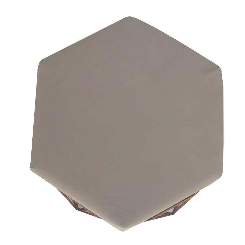 Kit 4 Puff Diamante Aramado Decoração Banqueta Salão Sala Estar Quarto D'Classe Decor Suede Bege