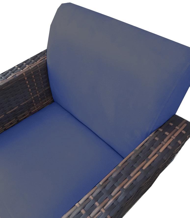 Kit 5 Poltrona Chanel Decoração Base Giratória Escritório Estar Recepção Clinica Suede Azul Marinho