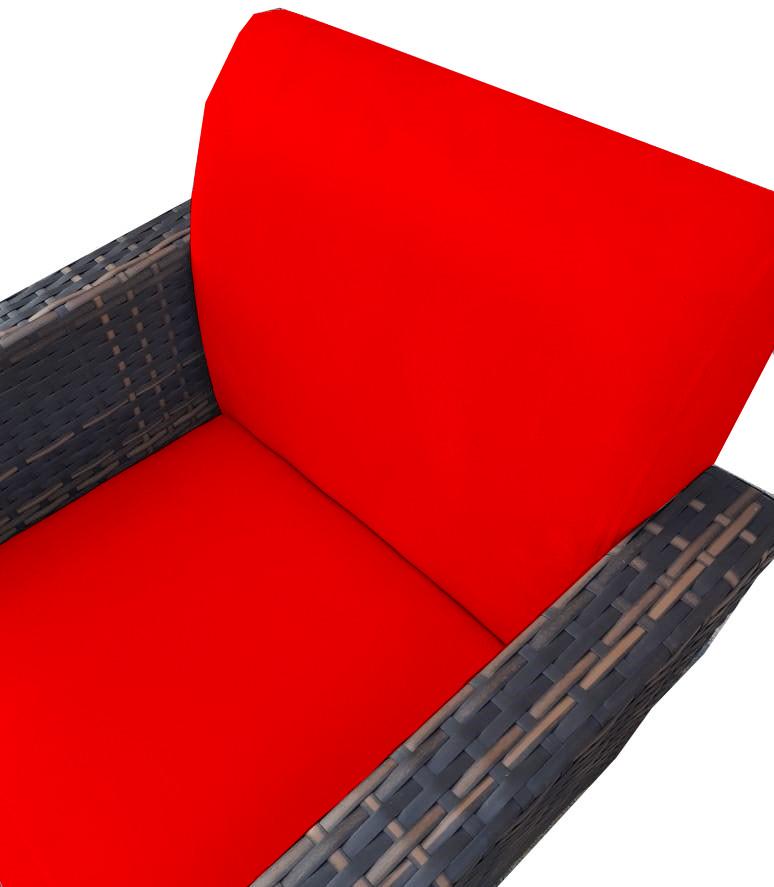 Kit 5 Poltrona Chanel Decoração Base Giratória Escritório Sala Estar Recepção Clinica D'Classe Decor Suede Vermelho