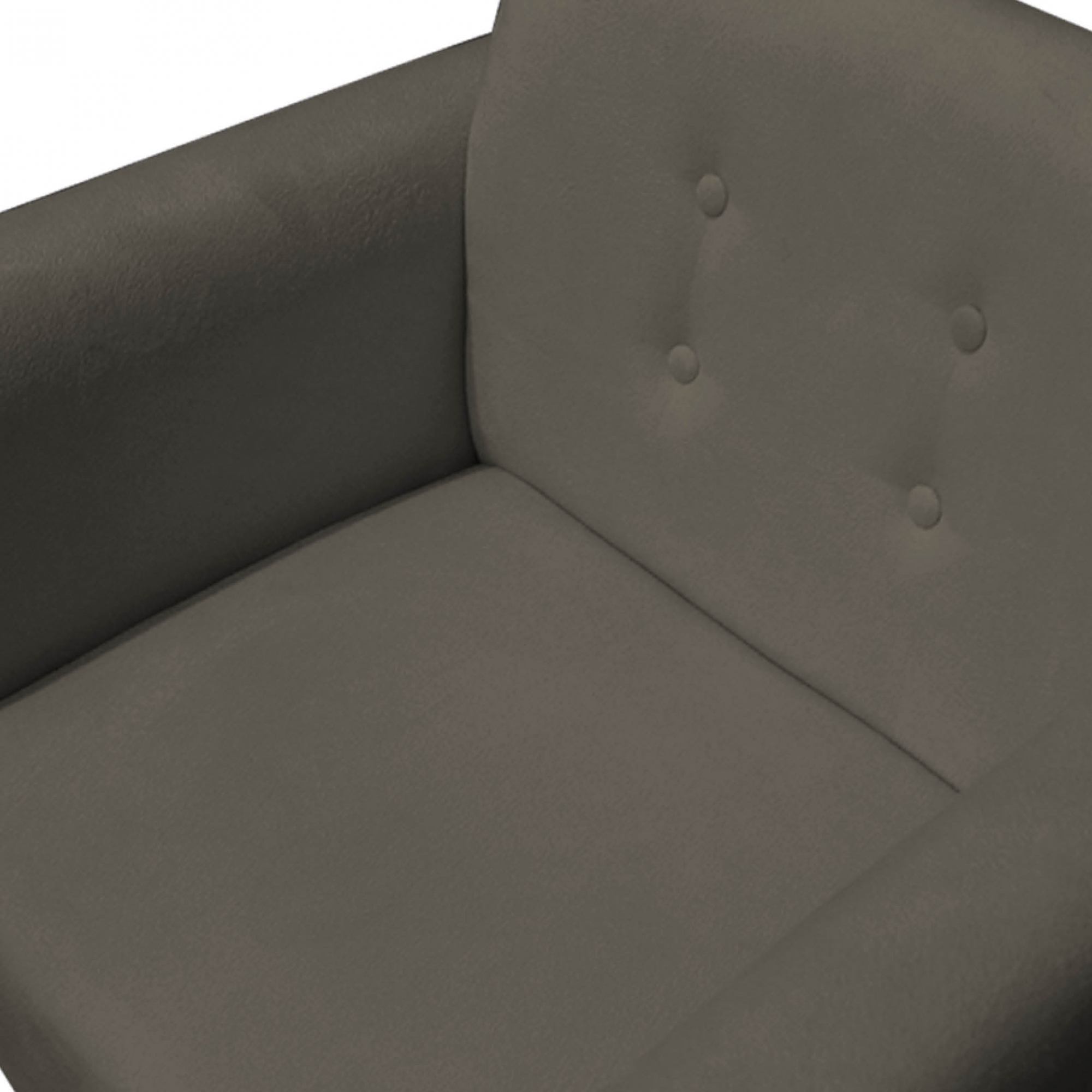 Kit 5 Poltrona Duda Decoraçâo Pé Palito Cadeira Recepção Escritório Clinica D'Classe Decor Suede Marrom Rato