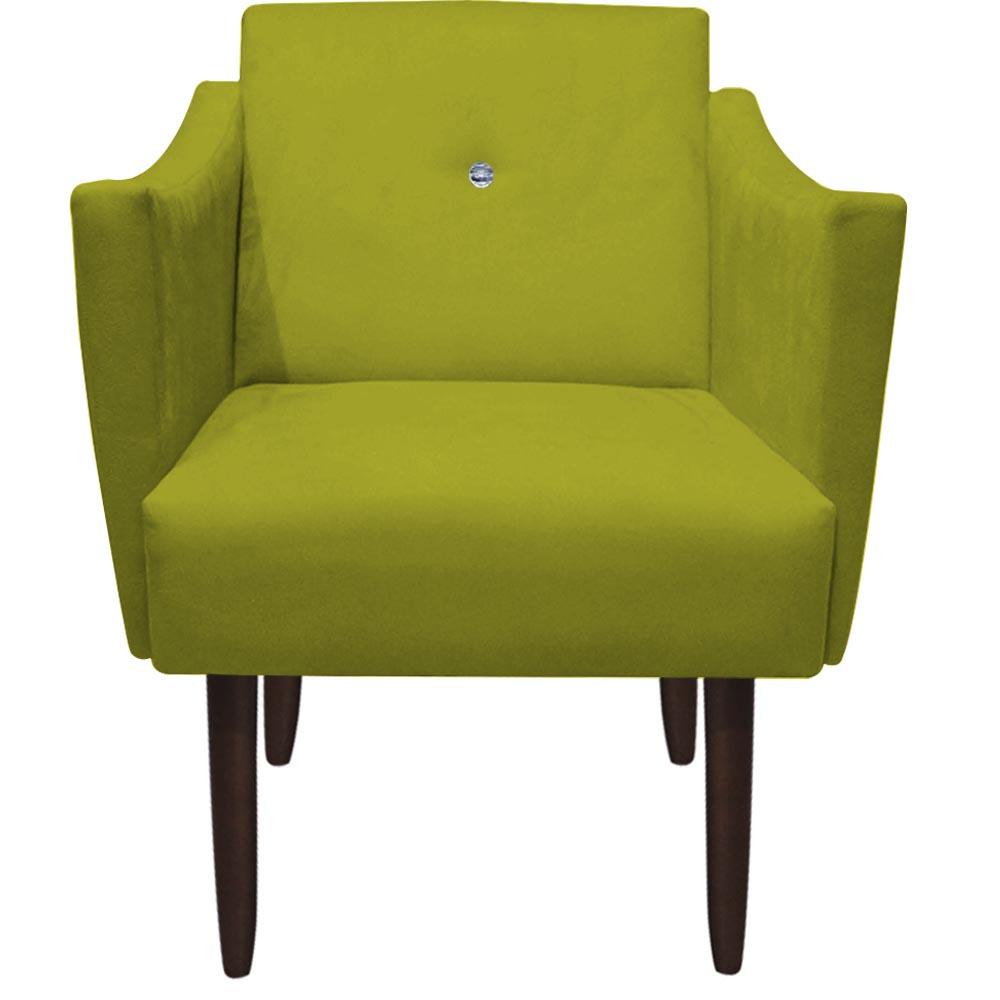 Kit 5 Poltrona Naty Strass Decoração Cadeira Clinica Recepção Salão Escritório D'Classe Decor Suede Amarelo