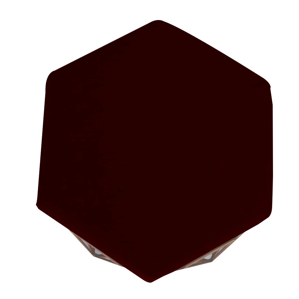 Kit 5 Puff Diamante Aramado Decoração Banqueta Salão Sala Estar Quarto D'Classe Decor Suede Marsala