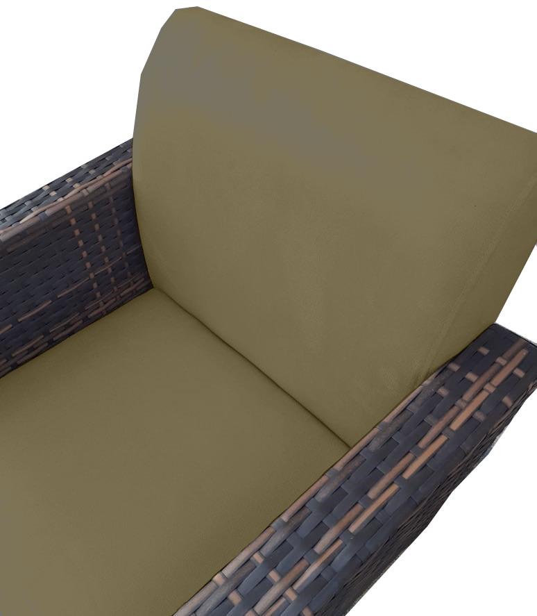 Kit Namoradeira + 2 Poltrona Chanel Decoração Pé Palito Cadeira Escritório Clinica D'Classe Decor Suede Marrom Rato
