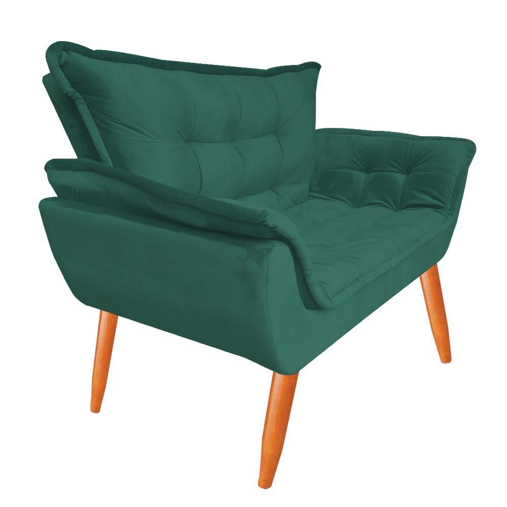 Kit Namoradeira + 2 Poltrona Opala Sofá Decoração Clínica Recepção Escritório Sala Estar D'Classe Decor Veludo Tiffany