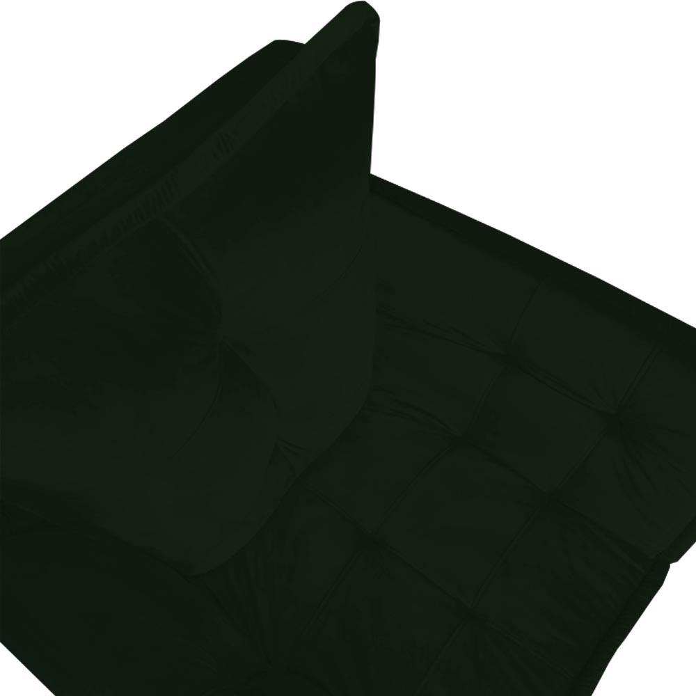 Kit Namoradeira + 2 Poltrona Opala Sofá Decoração Clínica Recepção Escritório Sala Estar D'Classe Decor Veludo Verde