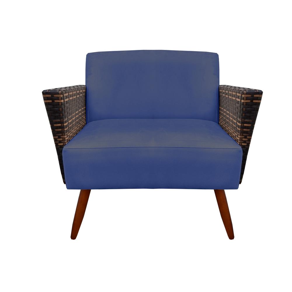Namoradeira Chanel Decoração Pé Palito Cadeira Escritório Clinica Jantar Sala Estar D'Classe Decor Suede Azul Marinho