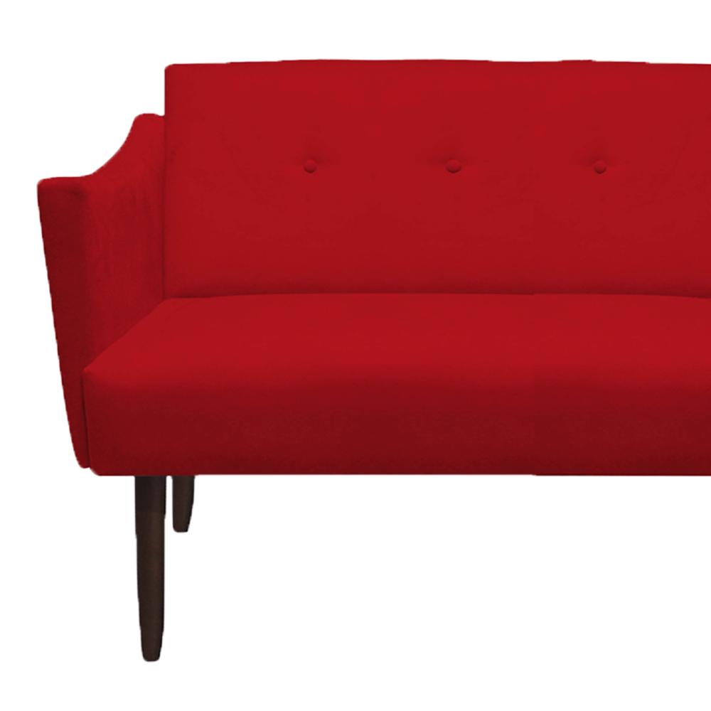 Namoradeira Naty Decorativa Sala de Estar Recepção Pé Palito Suede Vermelho D09 - D´Classe Decor