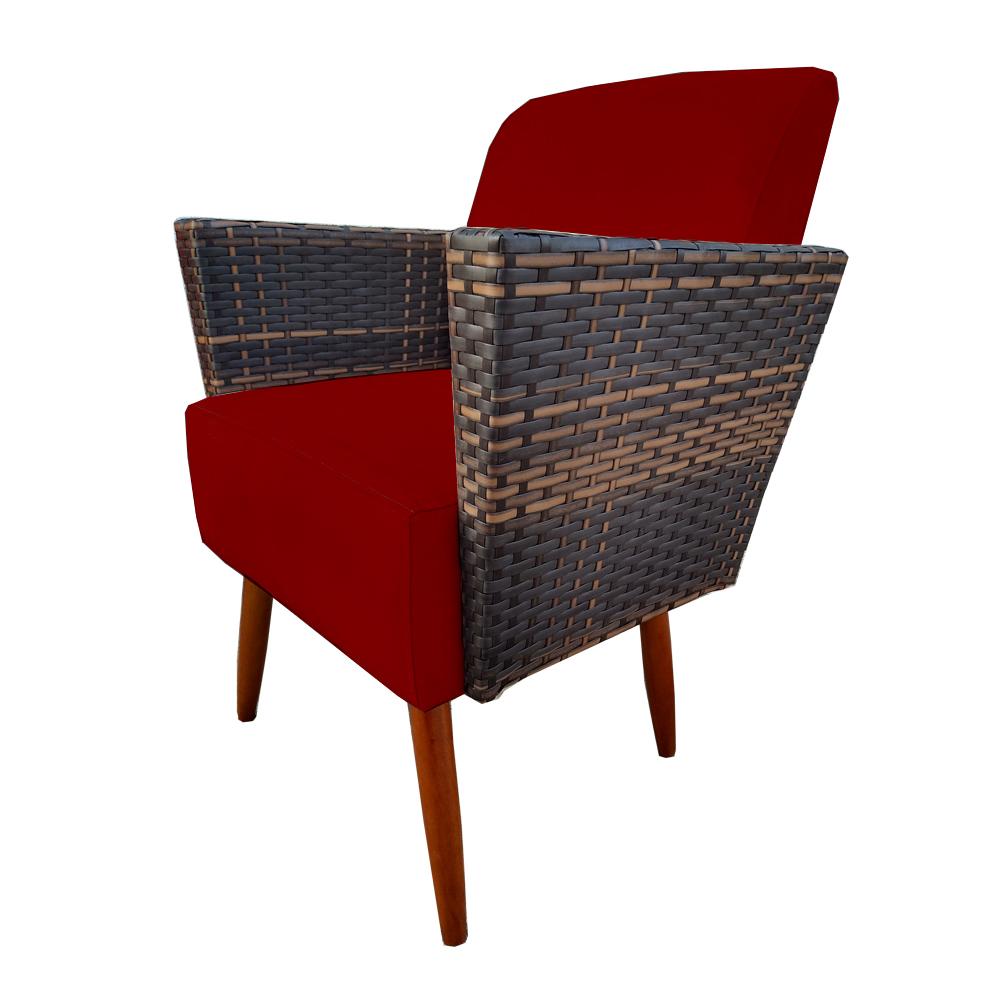 Poltrona Chanel Decoração Pé Palito Cadeira Escritório Clinica Jantar Estar Suede Marsala