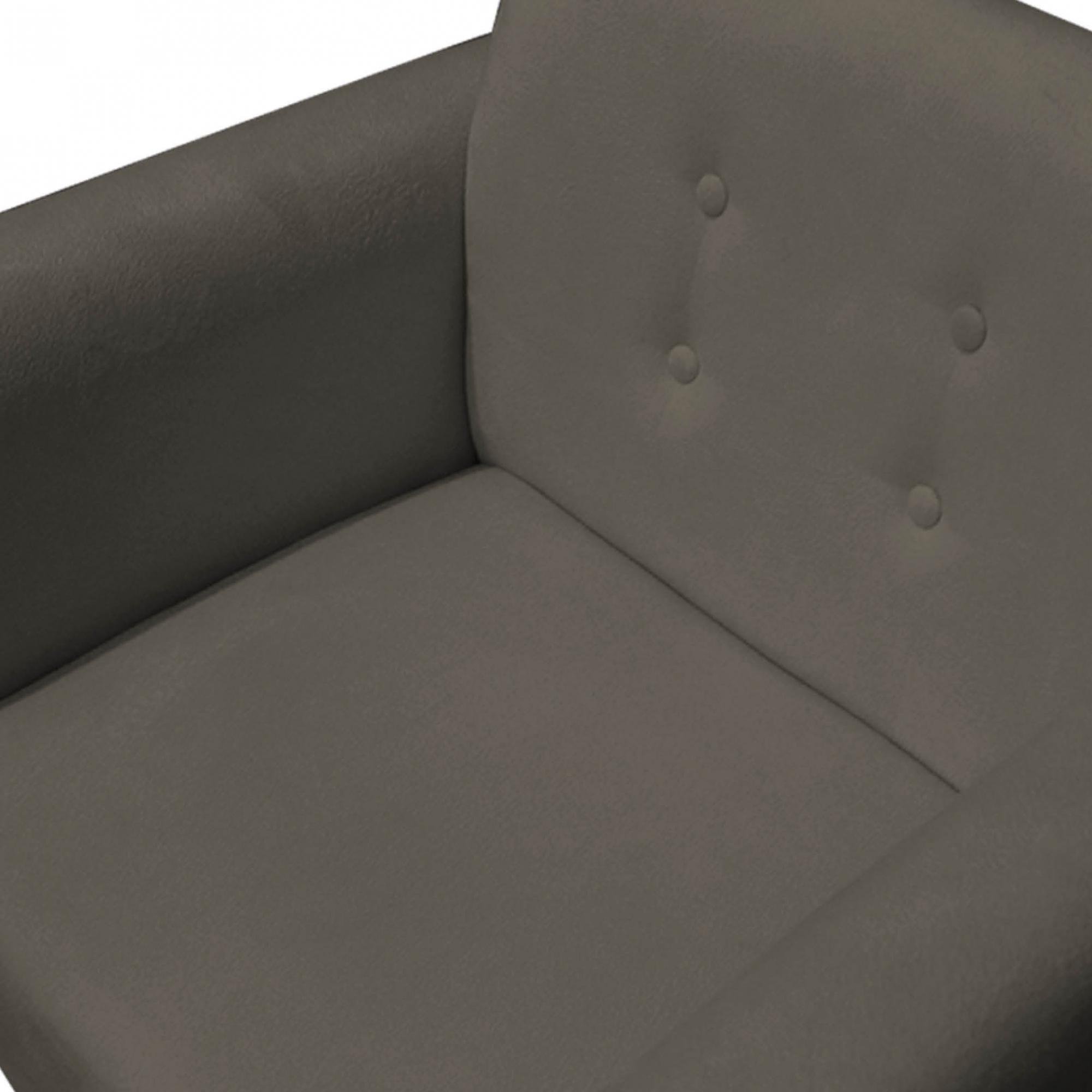 Poltrona Duda Decoraçâo Pé Palito Cadeira Recepção Escritório Clinica D'Classe Decor Suede Marrom Rato