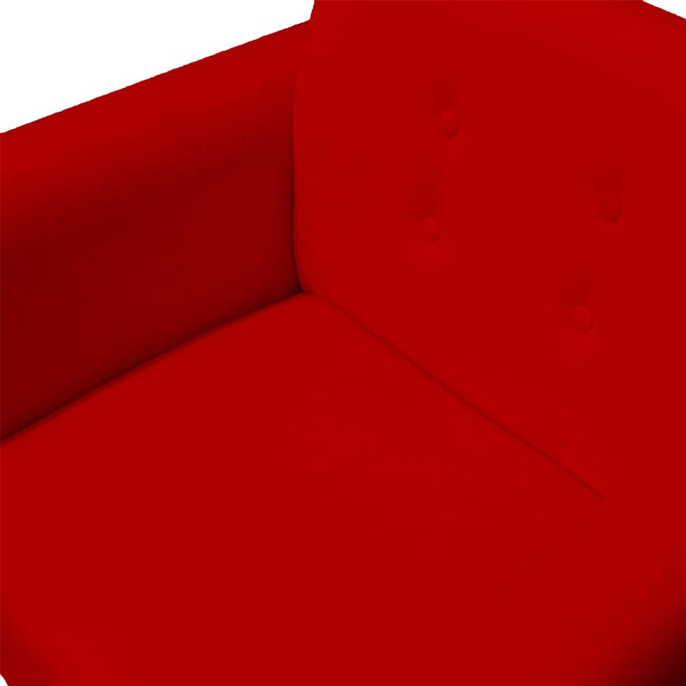 Poltrona Duda Decoraçâo Pé Palito Cadeira Recepção Escritório Clinica D'Classe Decor Suede Vermelho