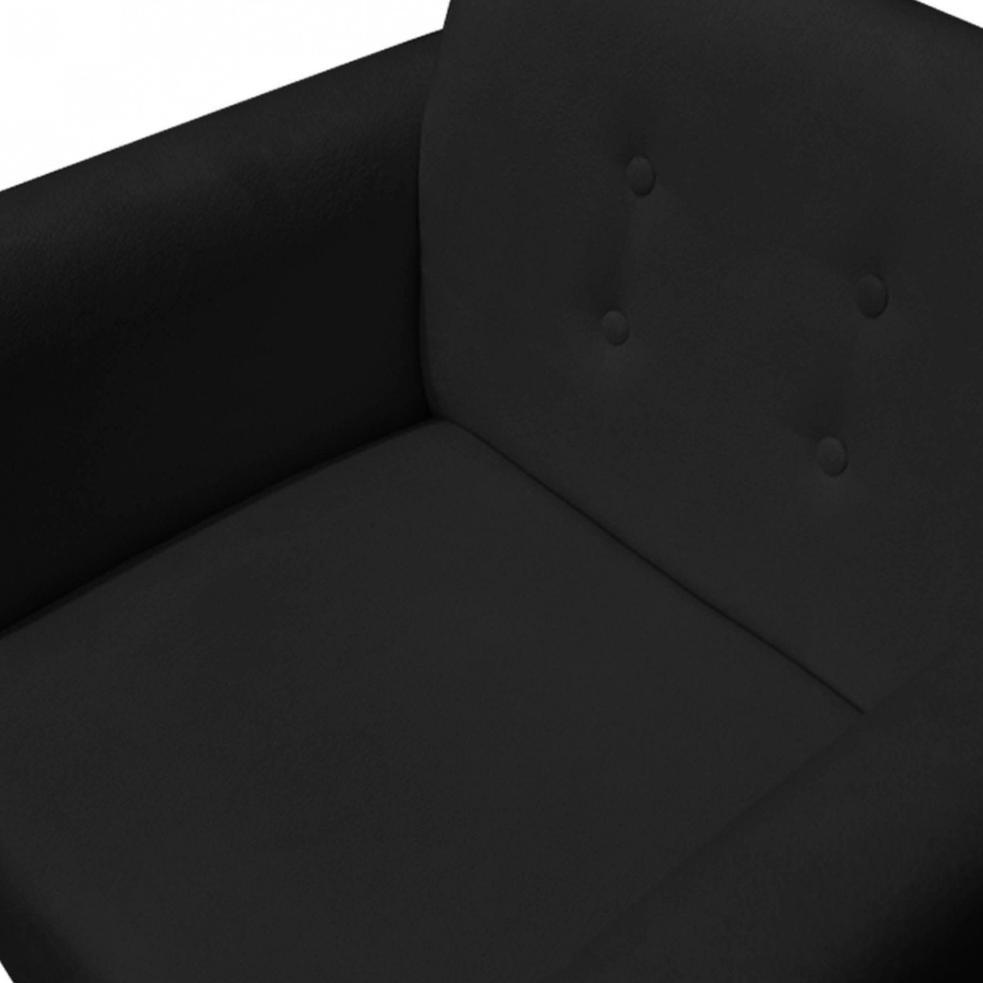 Poltrona Duda Decorativa Sala de Estar Recepção Pé Palito Suede Preto D11 - D´Classe Decor