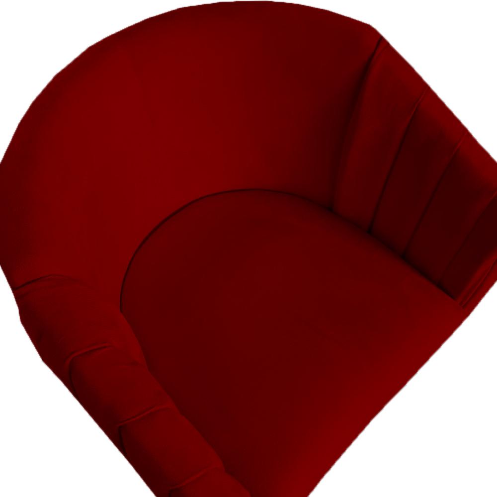 Poltrona Julia Decoração Salão Cadeira Escritório Recepção Estar Amamentação Suede Marsala
