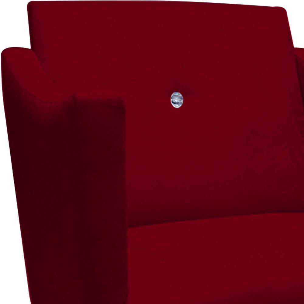 Poltrona Naty Strass Decoração Cadeira Clinica Recepção Salão Escritório D'Classe Decor Suede Marsala