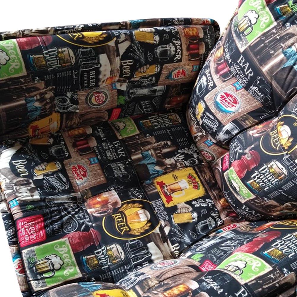 Poltrona Opala Decorativa Sala de Estar Recepção Pé Palito Composê Beer Veludo Bege C01- D´Classe Decor