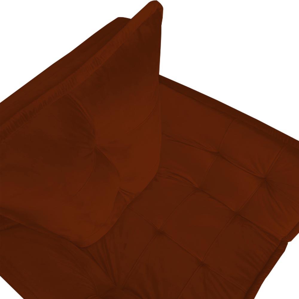 Poltrona Opala Decorativa Sala de Estar Recepção Pé Palito Veludo Terracota C28 - D´Classe Decor