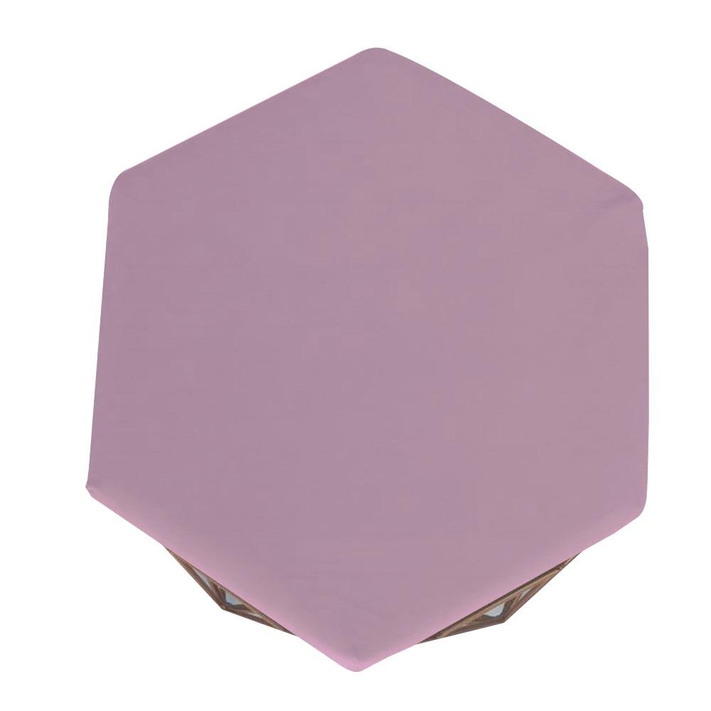 Puff Diamante Aramado Decoração Banqueta Salão Sala Estar Quarto D'Classe Decor Suede Rosa Bebê