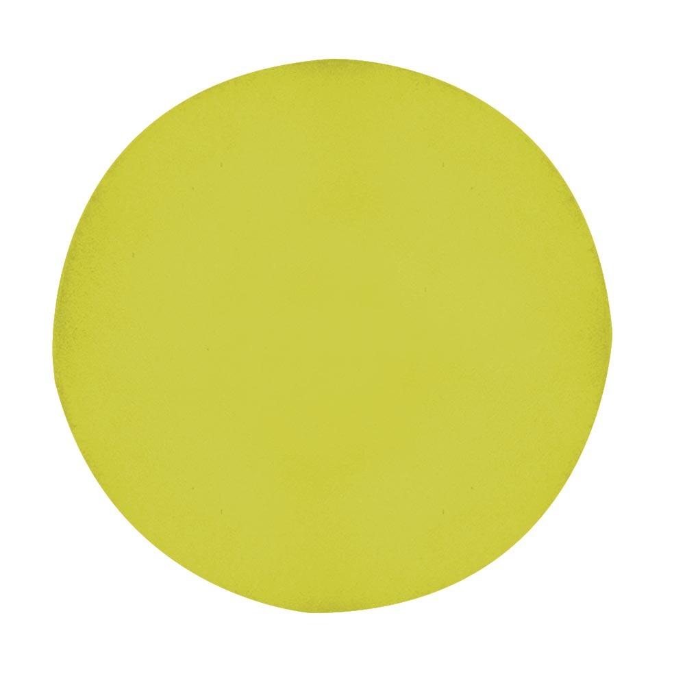 Puff Laura Decoração Pé Palito Redondo Recepção Escritório Sala Estar Quarto D'Classe Decor Suede Amarelo