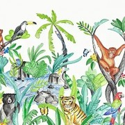 Faixa Papel de Parede quarto bebê Selva Safari Piratas Circo Fadas Paris
