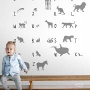 Painel Infantil LETS P quarto de bebê animais da selva nude Safari