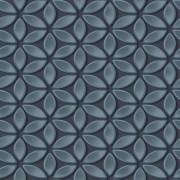 Papel de Parede Hexagone L52201Ladrilho Cinza Escuro