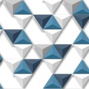 Papel de Parede Hexagone L57501 Geométrico Azul