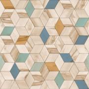 Papel de Parede Hexagone L59301 3d Geométrico Bege
