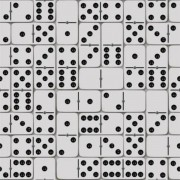 Papel de Parede Hexagone L59409 Dominó Preto E Branco
