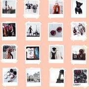 Papel de Parede Infantil coleção Paris fotos Polaroid #FAB 138847