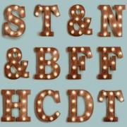 Papel de Parede Infantil letras luminária led camarim