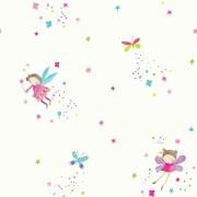 Papel de Parede FUN1 Infantil quarto menina fadas com glitter