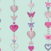 Papel de Parede Infantil FUN1 menina borboletas glitter