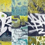 Papel de Parede quarto menino grafite preto e amarelo