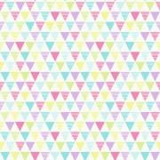 Papel de Parede FUN2 menina geométrico triângulos rosa