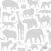 Papel de Parede Infantil LETS P Safari animais selva floresta