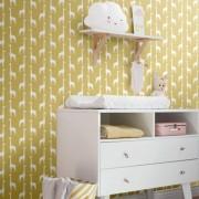 Papel de Parede quarto Infantil coleção Safari girafas selva