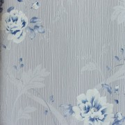 Papel de Parede Italiano Vita B1050601 Floral Azul