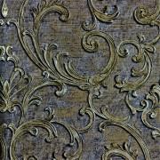 Papel de Parede Roberto Cavalli luxo arabescos relevo prata dourado