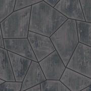 Papel de Parede Romariz  3d pedra cinza mosaico
