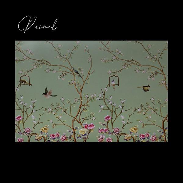 Painel Flores Pássaros Classic Designs M17301