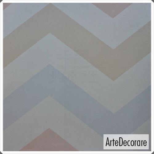 Papel de Parede Classic Designs  G18133 Tons Pastel Chevron