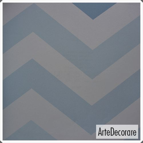 Papel de Parede Classic Designs  G18134 Azul Chevron