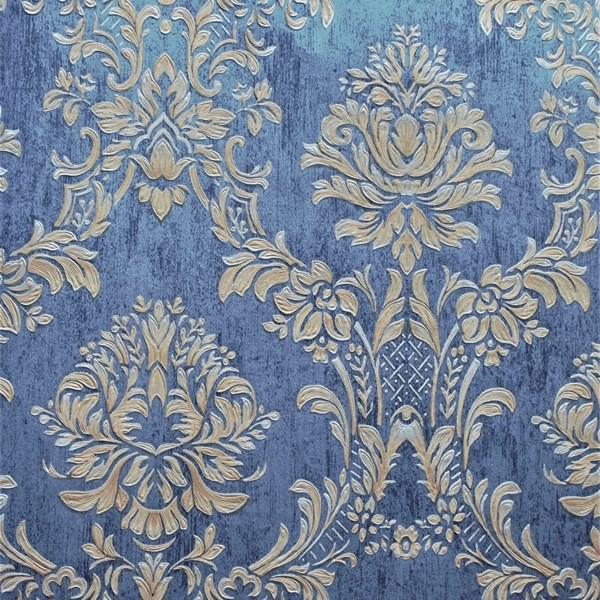 Papel de Parede Classic DesignS H2890305 Azul Adamascado